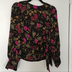 ASTR the Label Floral Long Sleeve Blouse